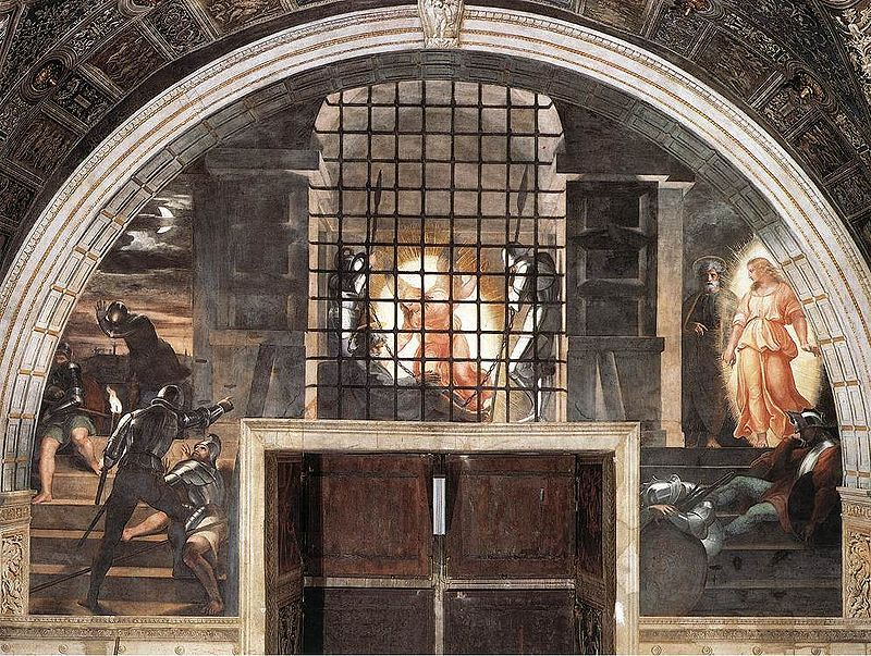 THE-LIBERATION-OF-ST-PETER:-A-MASTERPIECE-BY-RAPHAEL